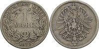 1 Mark 1876 J Kaiserreich Wilhelm I., 1861-88 ss  15,00 EUR  +  3,00 EUR shipping