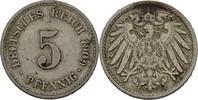5 Pfennig 1909 F Kaiserreich Wilhelm II., 1888-1918 ss  10,00 EUR  +  3,00 EUR shipping