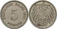 5 Pfennig 1910 G Kaiserreich Wilhelm II., 1888-1918 ss-vz  15,00 EUR  +  3,00 EUR shipping