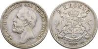 2 Kronor 1897 Schweden Oscar II., 1872-1907 ss  17,00 EUR  +  3,00 EUR shipping