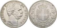 5 Lira 1879 Italien Umberto I., 1878-1900 Kratzer, Randschläge, ss  50,00 EUR  +  3,00 EUR shipping