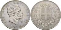 5 Lira 1876 Italien Viktor II. Emanuel, 1861-1878 Kratzer, ss  48,00 EUR  +  3,00 EUR shipping