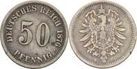 50 Pfennig 1876 C Kaiserreich Wilhelm I., 1861-88 ss/ss-, Kratzer  13,00 EUR  +  3,00 EUR shipping