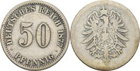 50 Pfennig 1877 C Kaiserreich Wilhelm I., 1861-88 ss/fast ss  20,00 EUR  +  3,00 EUR shipping