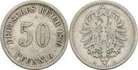 50 Pfennig 1876 A Kaiserreich Wilhelm I., 1861-88 ss/fast ss  9,00 EUR  +  3,00 EUR shipping