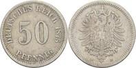 50 Pfennig 1875 D Kaiserreich Wilhelm I., 1861-88 ss  30,00 EUR  +  3,00 EUR shipping