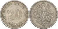 20 Pfennig 1873 A Kaiserreich Wilhelm I., 1861-88 ss  10,00 EUR  +  3,00 EUR shipping
