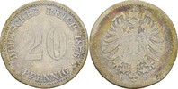 20 Pfennig 1876 D Kaiserreich Wilhelm I., 1861-88 s+  8,00 EUR  +  3,00 EUR shipping