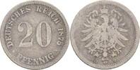 20 Pfennig 1875 D Kaiserreich Wilhelm I., 1861-88 fast ss/s  7,00 EUR  +  3,00 EUR shipping