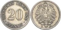 20 Pfennig 1876 D Kaiserreich Wilhelm I., 1861-88 ss  12,00 EUR  +  3,00 EUR shipping