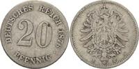 20 Pfennig 1876 E Kaiserreich Wilhelm I., 1861-88 fast ss  9,00 EUR  +  3,00 EUR shipping
