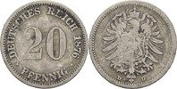 20 Pfennig 1876 D Kaiserreich Wilhelm I., 1861-88 s  6,00 EUR  +  3,00 EUR shipping