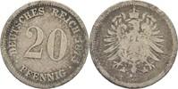 20 Pfennig 1875 D Kaiserreich Wilhelm I., 1861-88 s  5,00 EUR  +  3,00 EUR shipping