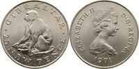25 Pence 1971 Gibraltar Elisabeth II., 1952-heute fast Stempelglanz  7,00 EUR  +  3,00 EUR shipping
