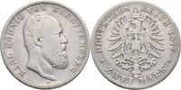2 Mark 1877 Württemberg  f.ss  30,00 EUR  +  3,00 EUR shipping