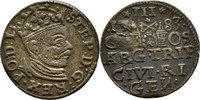 Dreigröscher Trojak 1583 Polen Lettland Ri...