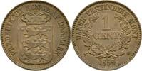 Cent 1859 Dänisch Westindien Frederik VII....
