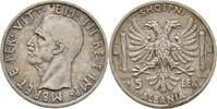 5 Lek 1939 R Albanien Vittorio Emanuele II...