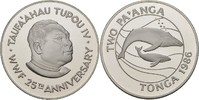 2 Paanga 1986 Tonga 25 Jahre WWF - Buckelwale PP offen, minimale Kontak... 27,00 EUR  +  3,00 EUR shipping