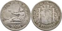 2 Pesetas 1870/73? Spanien  f.ss  12,00 EUR  +  3,00 EUR shipping