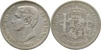 5 Pesetas 1875 Spanien Alfonso XII. (1874 - 1885) ss  25,00 EUR  +  3,00 EUR shipping