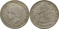 5 Pesetas 1892 Spanien Alfonso XIII. kl. Randfehler, Kratzer, ss  30,00 EUR  +  3,00 EUR shipping