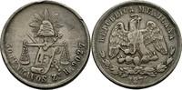 50 Centavos 1874 ZSH Mexiko  ss Kratzer u. Randfehler  75,00 EUR  +  3,00 EUR shipping