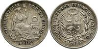 1/2 Dinero 1916 FG Peru  fast vz  5,00 EUR  +  3,00 EUR shipping