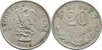 20 Centavos 1901 ZSZ Mexiko  ss-  15,00 EUR  +  3,00 EUR shipping