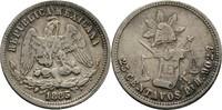 25 Centavos 1885 PIH Mexiko  ss Kratzer  30,00 EUR  +  3,00 EUR shipping