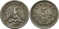 5 Centavos 1893 CAM Mexiko  ss Kratzer  20,00 EUR  +  3,00 EUR shipping