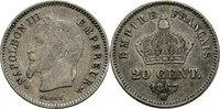 20 Centimes 1867 BB Frankreich Napoleon III., 1852-70 ss  12,00 EUR  +  3,00 EUR shipping