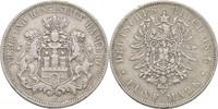 5 Mark 1875 Hamburg  Kratzer, kl. Randschlag, ss  32.16 US$ 30,00 EUR  +  4.29 US$ shipping