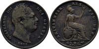 1 Farthing 1837 England Wilhelm IV., 1830-37 fast ss  12.86 US$ 12,00 EUR  +  3.22 US$ shipping