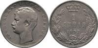 1 Dinar 1897 Serbien Alexander I., 1889-1902 ss  18.22 US$ 17,00 EUR  +  3.22 US$ shipping