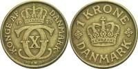 1 Krone 1925 HCNGJ Dänemark Christian X., 1912-47 ss  6.43 US$ 6,00 EUR  +  3.22 US$ shipping