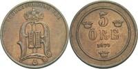 5 Öre 1879 Schweden Oscar II., 1872-1907 ss  48.24 US$ 45,00 EUR  +  4.29 US$ shipping