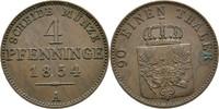 4 Pfennige 1854 Preussen Berlin Friedrich Wilhelm IV., 1840-1861 vz  26.80 US$ 25,00 EUR  +  4.29 US$ shipping