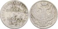 15 Kopeken = Zloty 1839 Russland Polen War...