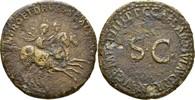 Dupondius 40-41 RÖMISCHE KAISERZEIT Nero u...