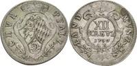 XII Kreuzer 1750 Pfalz kurlinie Heidelberg Karl Theodor, 1743-1799 ss  187.59 US$ 175,00 EUR  +  4.29 US$ shipping