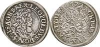 3 Kreuzer 1667 RDR Steiermark Graz Leopold...