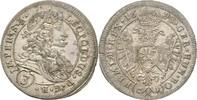 3 Kreuzer 1698 RDR Böhmen Kuttenberg Leopo...