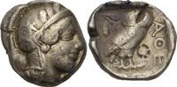 Tetradrachme 454-404 Attika Athen  Prüfhie...