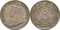 8 Annas 1919 Britisch Indien George V., 19...