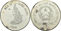 100 Dong 1986 Nord Vietnam Pfau fast Stemp...