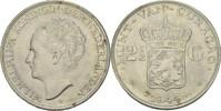 2 1/2 Gulden 1944 D NL Curacao Wilhelmina,...
