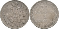 30 Kopeke 2 Zlote 1836 Polen Russland Wars...