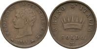 Soldo 1811 Italien Milano FSK6 Napoleon I....