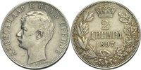 2 Dinara 1897 Serbien Alexander I., 1889-1...